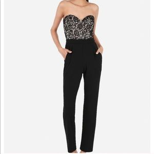 Express Lace Strapless Jumpsuit - NWT